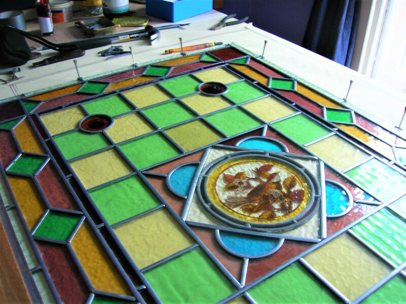 Stained glass repairs and restoration service in the Bristol area