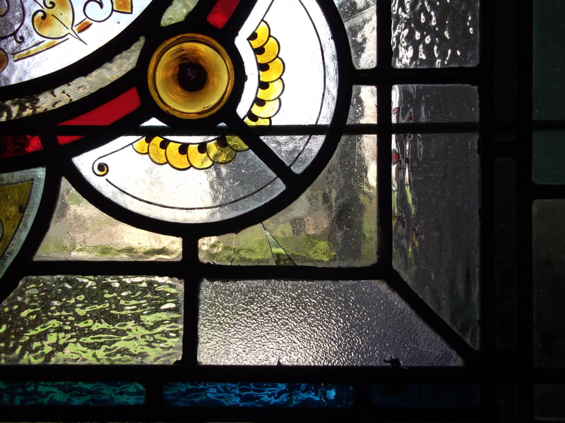 Insitu Stained Glass Repairs by Peirs Hampton in Bristol